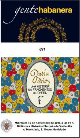 Cartel del concierto de Rubén Darío en la Biblioteca Histórica de la U. Complutense