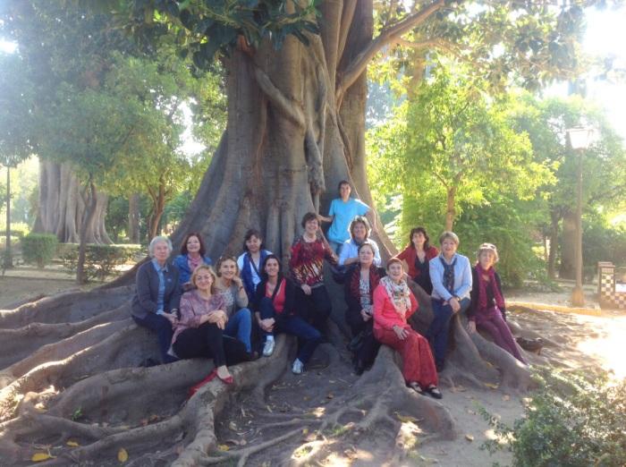 En los Jardines de Murillo de Sevilla