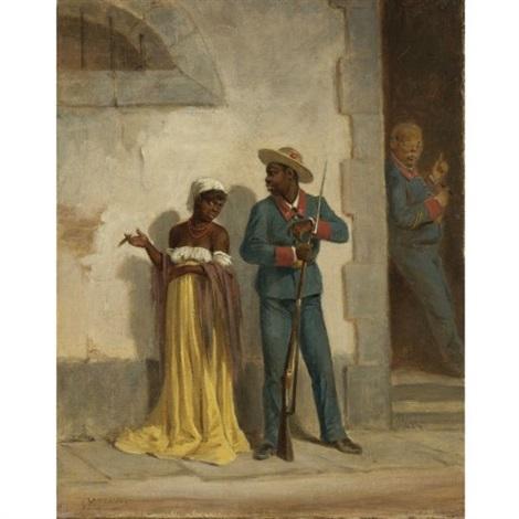 víctor-patricio-landaluze-tipos-populares-(soldado-con-mulata)